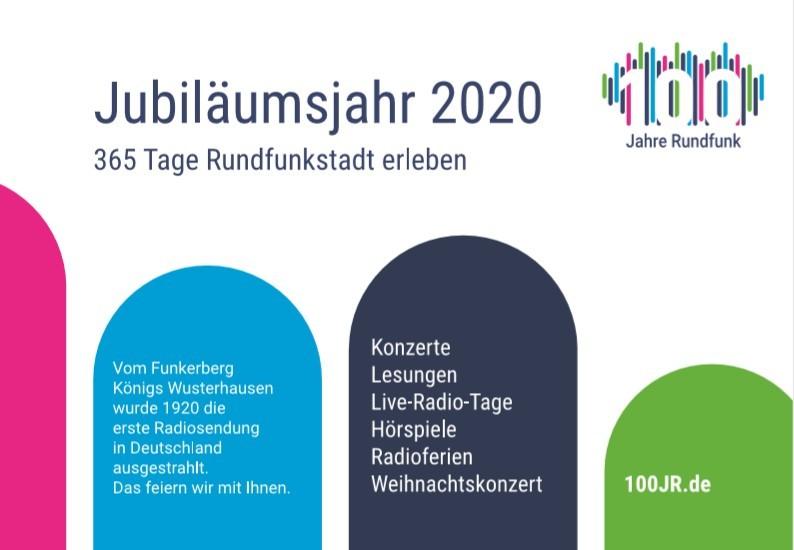 100Jahre Rundfunk auf dem Bahnhof der Rundfunkstadt